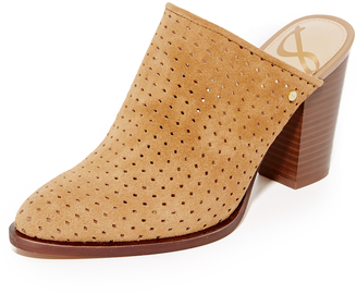 Sam Edelman Bates Perforated Suede Mules $130 thestylecure.com