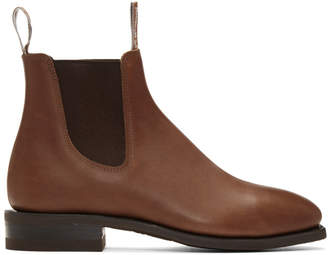 R.M. Williams Brown Comfort Craftsman Chelsea Boots