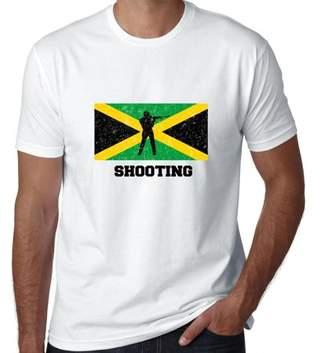 Hollywood Thread Jamaica Olympic - Shooting - Flag - Silhouette Men's T-Shirt