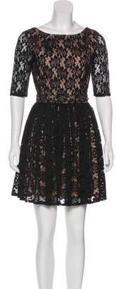 Rachel Zoe Lace Short Sleeve Dress