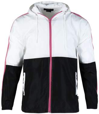 Beautiful Giant Men's Zip up Hooded Lightweight Windbreaker Workout Jacket(XL,)