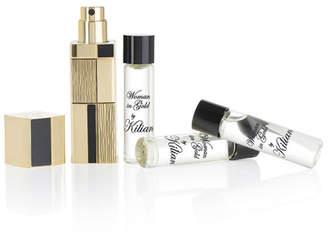 Kilian Woman In Gold Refillable Travel Spray, 1.0 oz./ 30 mL