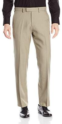 Kenneth Cole Reaction Men's Birdseye Weave Modern Fit Plain Front Dress Pant