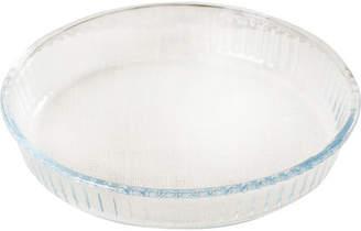 Circle Glass Borcam Round 1.8qt. Heat Resistant Ribbed Roaster