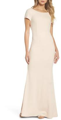 LuLu*s Twist Back Mermaid Gown