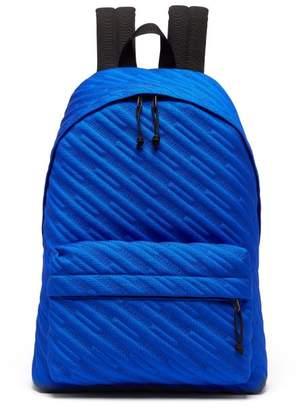 Balenciaga Explorer Canvas Backpack - Mens - Blue