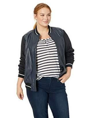 Levi's Women's Plus Size Mixed Media Bomber Jacket