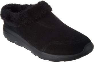 Skechers GOwalk Suede Faux Fur Clogs - Brilliant