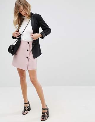 Asos Design DESIGN double breasted mini skirt