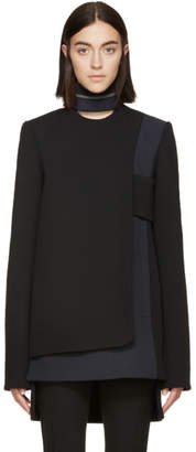 Paco Rabanne Black and Grey Wool Panel Tunic