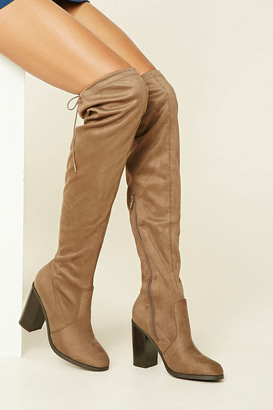 FOREVER 21+ Faux Suede Over-The-Knee Boots $44.90 thestylecure.com