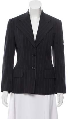 Dolce & Gabbana Notch-Lapel Pinstripe Blazer Navy Notch-Lapel Pinstripe Blazer