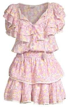 LoveShackFancy Liv Cotton Ruffled Mini Dress