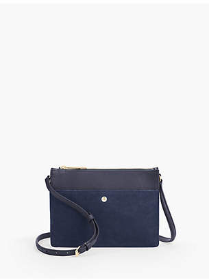 Talbots Small Crossbody Bag - Suede and Leather