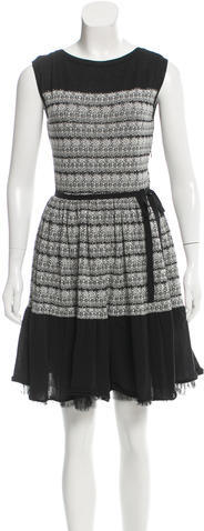 RED ValentinoRed Valentino Patterned Knit Dress