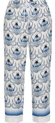 Markus Lupfer Orla Printed Crepe Wide-Leg Pants