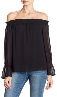 WAYF Off-the-Shoulder Long Sleeve Blouse