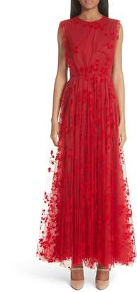 Co Floral Tulle Maxi Dress