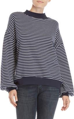 Vince Camuto Stripe Drop Shoulder Sweatshirt