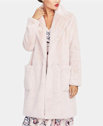 Rachel Roy Faux Fur Notched-Collar Jacket