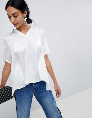 B.young Pleat Back Blouse