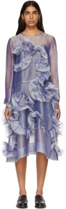 Roberts | Wood Purple Handlinked Wave Sheer Dress
