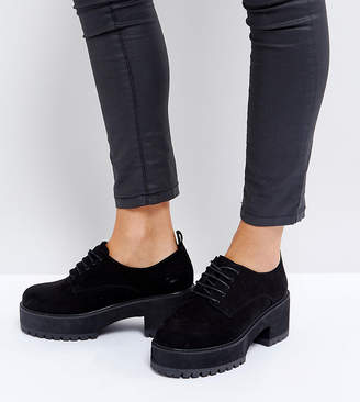 Asos Design OMEGA Wide Fit Chunky Lace Up Heels