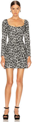 Miaou Dree Dress in Grey Leopard | FWRD