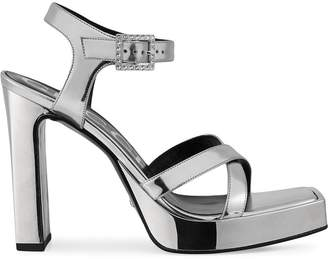 Gucci metallic platform sandals