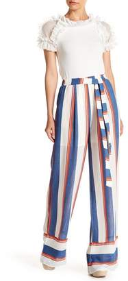 Gracia Striped High Waist Trousers