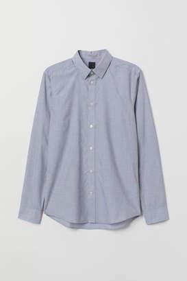 H&M Slim Fit Easy-iron Shirt - Gray