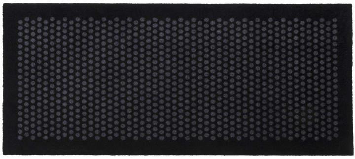 tica copenhagen - Dot Fußmatte, schwarz / grau, 67 x 150 cm