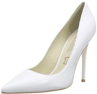 ... Buffalo London Women s 11335X-269 Mestizo Pumps White Size  7 c3e33345f2