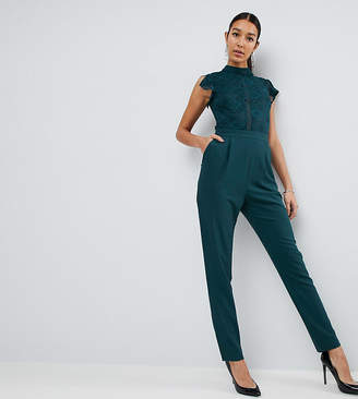 Asos Tall TALL Lace Top Jumpsuit
