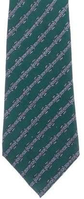 Hermes Silk Print Tie
