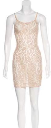 Alice + Olivia Sheer Lace Mini Dress