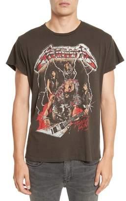 MadeWorn Metallica Glitter Graphic T-Shirt