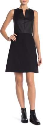 Theory Alinea Leather & Wool Dress