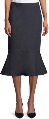 Elie Tahari Eavanna Flounce-Hem Pencil Skirt