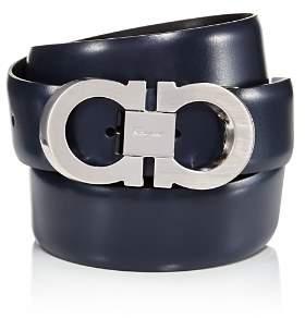 Salvatore Ferragamo Double Gancini Faceted Buckle Dress Belt