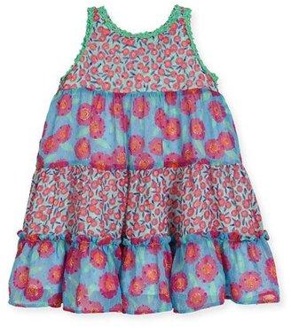 Kate Spade New York Floral Chiffon Trapeze Dress, Multicolor, Size 7-14 $98 thestylecure.com