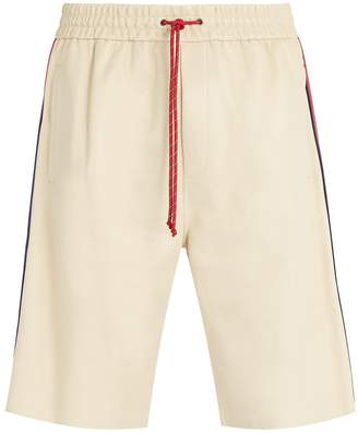 Gucci Drawstring leather shorts