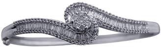 JCPenney FINE JEWELRY diamond blossom 2 CT. T.W. Diamond 10K White Gold Swirl Bangle