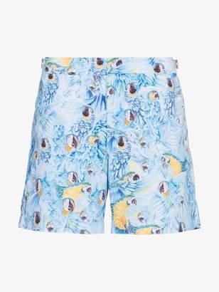 Orlebar Brown Bulldog Parrot print swim shorts