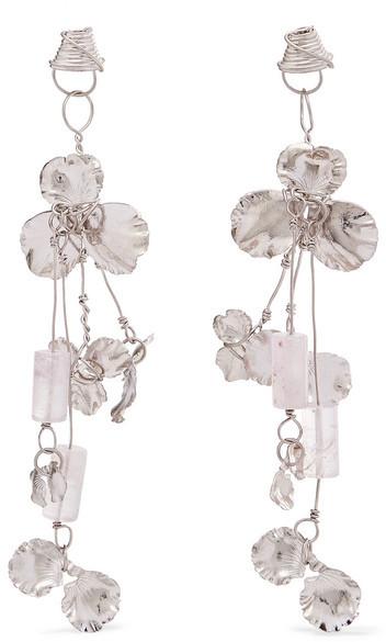Balenciaga Balenciaga - Silver-tone And Resin Earrings - one size