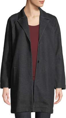 Neiman Marcus Majestic Paris for Snap-Front Denim Long Jacket