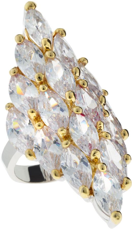 Kenneth Jay Lane CZ by Marquis Cubic Zirconia Diamond-Shape Ring