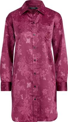 Ralph Lauren Floral Satin Night Shirt