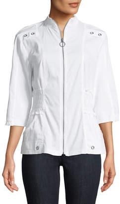 XCVI Claude 3/4-Sleeve Zip-Front Jacket