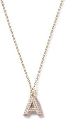 Alison Lou Mini Diamond Letter With Enamel Shadow Necklace